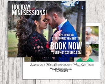 Holiday Mini Session - Christmas Mini Session Template - Photography Marketing Template - Photoshop Template - Mini Sessions
