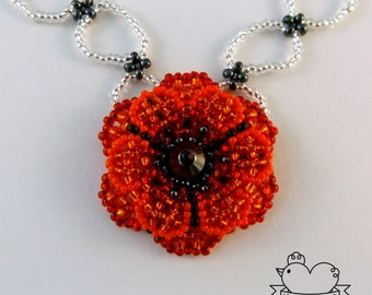 Double Flower Pendant Necklace + FREE Earrings (Free UK delivery)