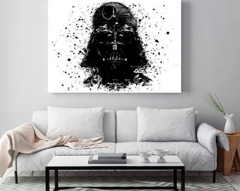 Darth vader poster, ART Poster, star wars poster, star wars poster, minimalist poster art, Ster wars poster, star wars print, vader helmet