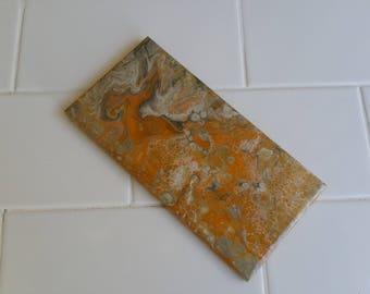 Custom Abstract Acrylic or Resin Art on Feature Tiles
