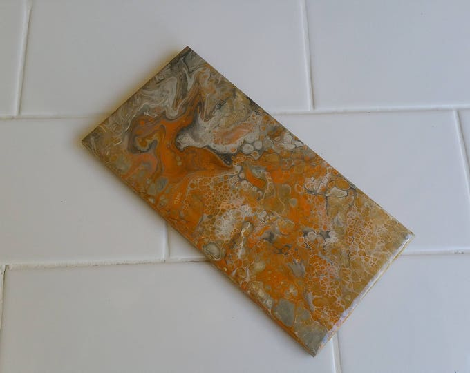 Custom Abstract Acrylic or Resin Art on Feature Tiles