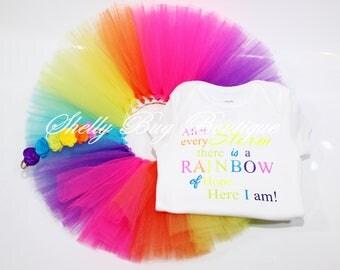 After Every Storm, Rainbow baby tutu set, Rainbow baby outfit, Rainbow Baby Gift, Rainbow tutu, Rainbow baby tutu, Rainbow baby Headband