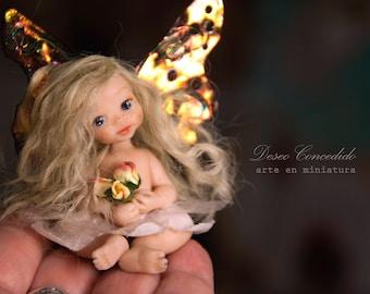 Miniature figurine: Polymer clay dolls, Ooak fairy doll, Miniature art doll