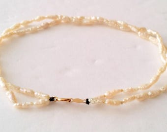 Vintage 14k Rice Pearl Bracelet