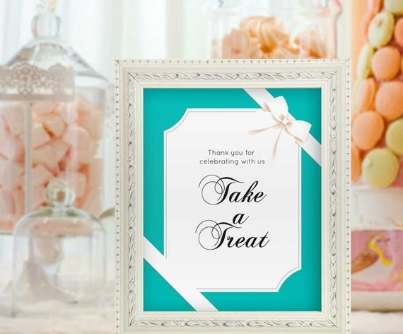 Take A Treat Baby Shower Signs Baby And Co Decor Breakfast Baby