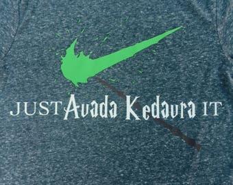 Harry Potter Tshirt, Hogwarts, Avada Kedavra, Just Do It,