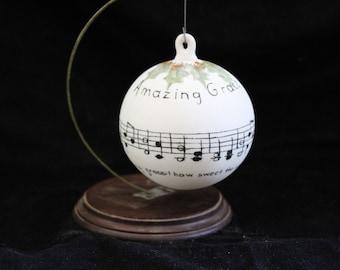 Amazing Grace Christmas Ornament
