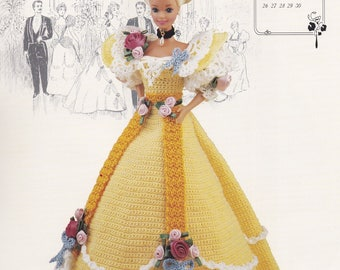 Miss June 1994, Annie's Gibson Girl of the Gay Nineties Crochet Doll Clothes Pattern Booklet 7706
