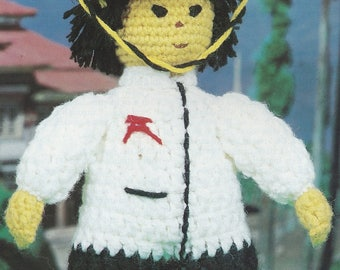 Chinese Farmer, Annie's Attic Crochet Dolls of the World  Pattern Booklet 87L02