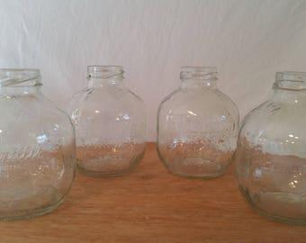 Glass juice bottle/martinelli apple juice bottle/project glass jar/small apple juice jars/apple juice jar for crafts/craft making jars