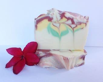 Handmade Frangipani cold process soap