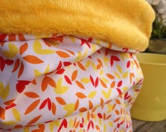 "Neck scarf/fleece children's ""yellow leaves"""