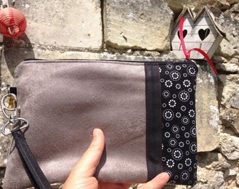 Flat clutch / hand bag and strap
