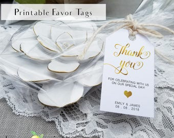 Custom Custom gold foil gift tag design, personalized wedding favor tags, customized gift tags, gift tag custom design, wedding favor tags