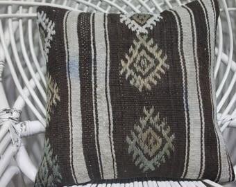 black and white kilim pillow 16x16 kilim cushion 16x16 bohemian throw pillows 16x16 throw pillow covers 16x16 sarikayakilimpillow 3845