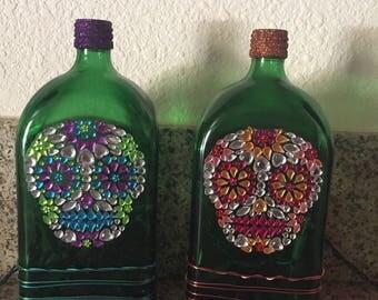 Lighted Skull Bottle