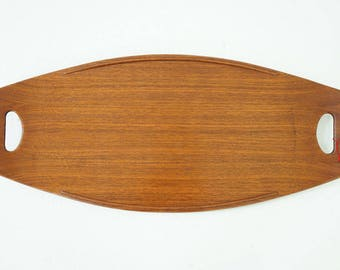D218 Danish Mid Century Modern Teak Serving Tray by Jens Quistgaard for Dansk