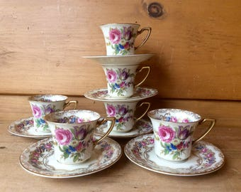 Rosenthal Demitasse Vienna Gumps San Francisco  6 Sets Excellent