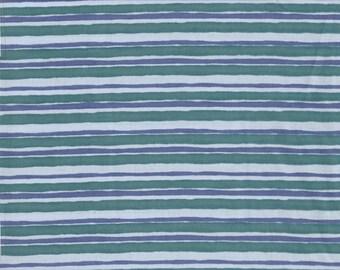 Creature Comforts - Per Yd - Clothworks - Barb Tourtillotte - Blue Lt Blue Stripe