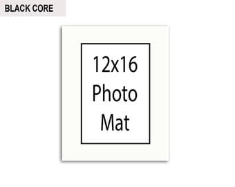 Multiple Colors - Any Opening Size - 12x16 Photo Mat (BLACK CORE)