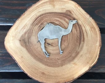 Rustic Recycled Steel Metal Camel Christmas Ornament Holiday Gift