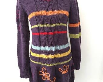 Women's handmade wool dress size 40/44 Italian