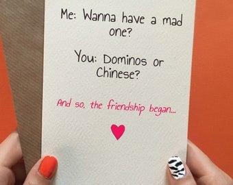 Birthday card best friend / funny birthday card housemate / friend /