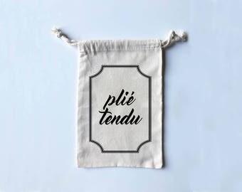 Plié Tendu - Adorable Grippy Sock/Boxing Wrap/Dance Shoe Bag!