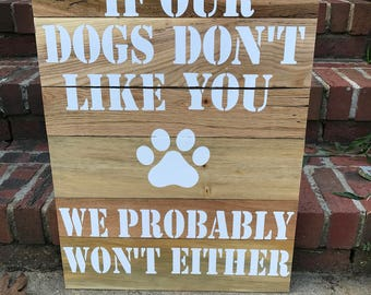 Dog lover wall sign