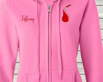 Unisex Fit Heavy Blend Full-Zip Hooded Sweatshirt Nurse Phlebotomist Phlebotomy Laboratory Technician Student