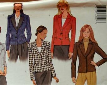 Uncut 2001 Butterick Sewing Pattern 3259, Size 6-8-10; Misses' Jacket