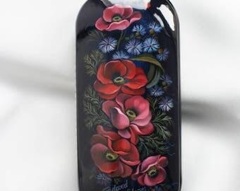 Hard glasses case designer glasses case Spectacle case metal case lacquer box safety holder russian pattern