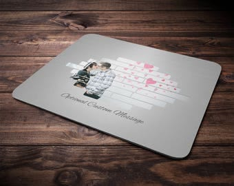 Personalized Photo MousePads With Photo Mouse Mat With Photo On Mouse Pad With Picture Mouse Pad Photo Frame Mouse Pad With Family Picture