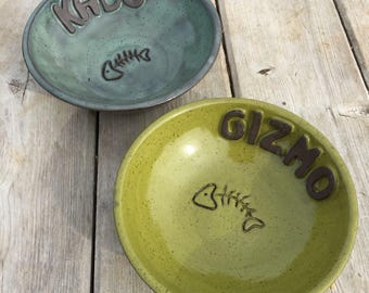 Customizable cat dish, ceramic cat dish