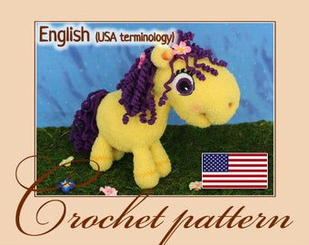 Little pony Violet - Amigurumi Crochet Pattern PDF file by Anna Sadovskaya