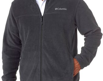 3220 - Columbia Men's Steens Mountain™ Full-Zip Fleece, embroidered with 2 lines of text
