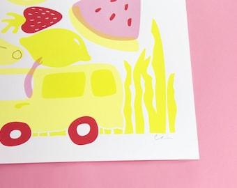 Fruity Pebbles - 2017   Screenprint Silkscreen Print Poster
