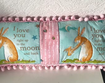 Cot/crib/pram pillow. Love you to the moon and back  Handmade