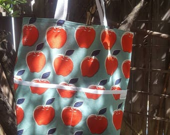 Tote in Melody Miller's Red Apples