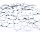 Round Metal Stickers for Magnetic Makeup Palettes - 26mm Eyeshadow Pans or Larger - Peel and Stick - GlamTech Custom Shadow Make up Storage