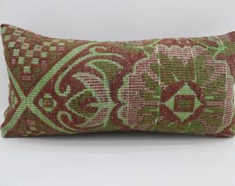 12x24 Kilim Pillow Covers  Floral Pillows Throw Pillow 12x24 Lumbar Pillow  Striped Kilim Pillow Bohemian Pillow Red Pillow SP3060-1743