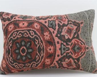 16x24  Kilim Pillow Cover Floral Pillow Geometric Pillow Striped Pillow Turkish Decorative Kilim Pillow 16x24 Pillow Boho Pillow SP4060-1358