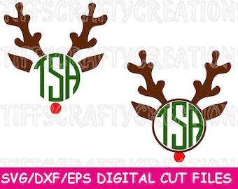 Reindeer Files, Svg Christmas Reindeer, Reindeer Svg, Reindeer Cricut, Reindeer Svg File, Reindeer Monogram Svg, Monogram Rudolph Svg