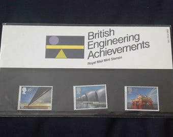 Royal Mail stamps presentation pack 1983 British Enineering Achievements