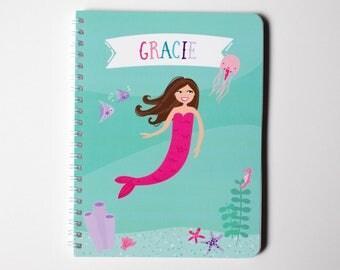 Personalized Ocean Mermaid Notebook