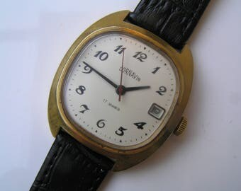 Wrist RUSSIAN VINTAGE Watch Ussr Poljot 17 jewels