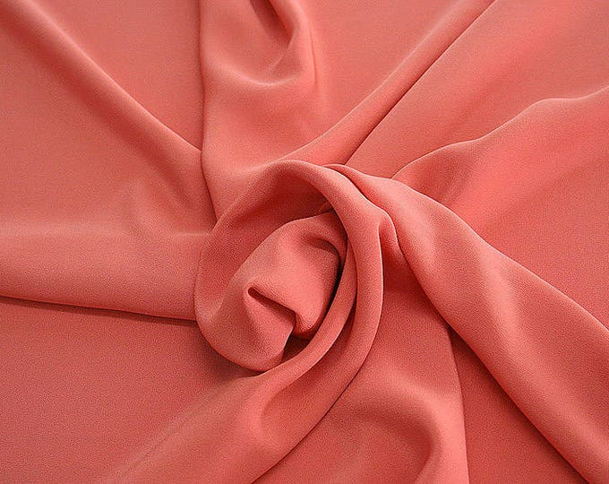 305105-Crepe marocaine Natural Silk 100%, width 130/140 cm, made in Italy, dry cleaning, weight 215 gr