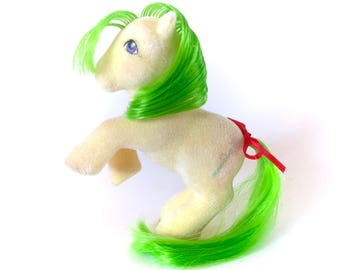 G1 My Little Pony So Soft Magic Star Wand Original G1 80s Vintage Original MLP Earth Ponies Gallop Hasbro Fuzzy Flocked Plush Yellow Kawaii