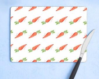 Carrot Garden Patch Collection Set of Four Placemats Kitchen Housewarmin Fruit and Veg Dinner