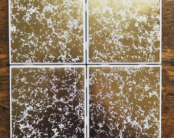 Gold Granite Tile Coasters
